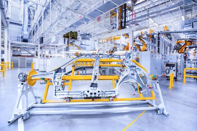 Reserveonderdelen in een autofabriek
