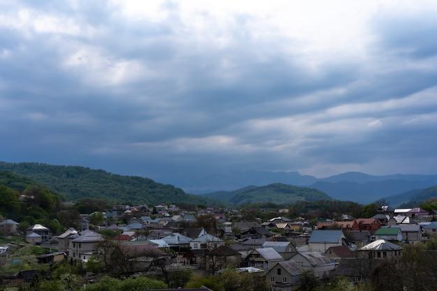 Residentiële gebouwen gelegen in de bergen