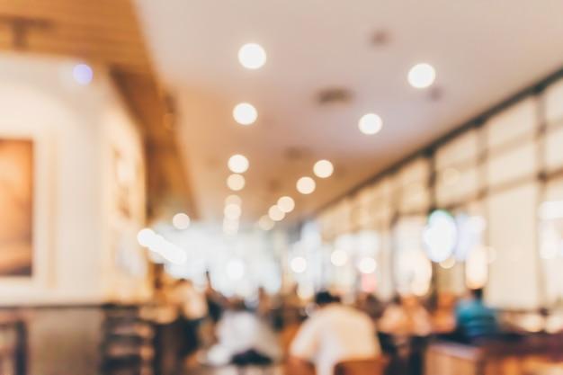 Restaurant café of coffeeshop interieur met mensen abstract intreepupil wazige achtergrond