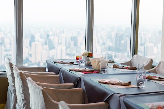 Restaurant in bangkok op een dag