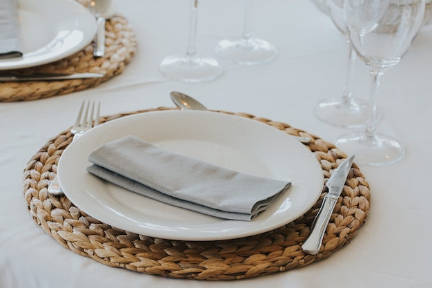 Restaurant tafel opstelling