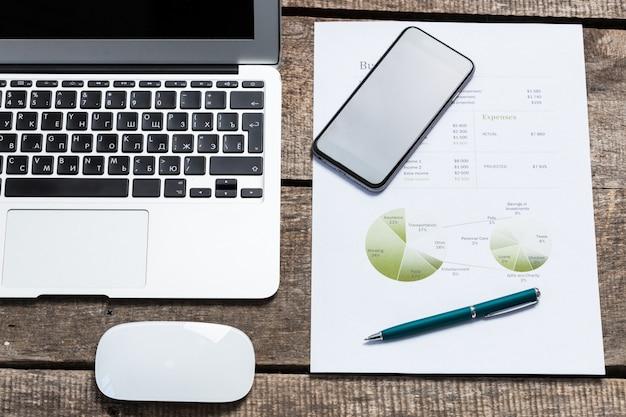 Resultaat zakelijk en financieel rapport. accounting