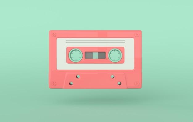 Retro audiocassette audioband
