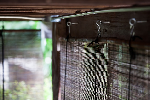 Retro bamboe gordijnen, thaise lokale stijl