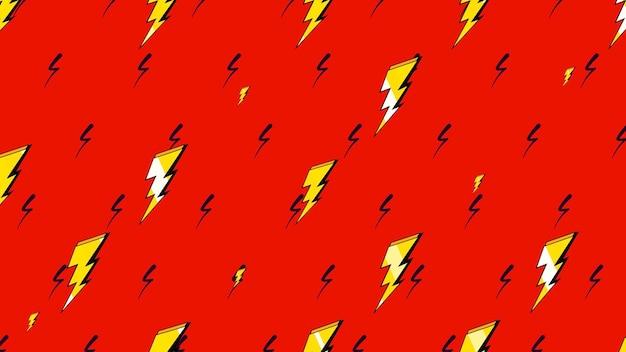 Retro bliksemschicht, abstracte achtergrond. elegante en luxe dynamische geometrische 80s, 90s memphis-stijl 3d-illustratie