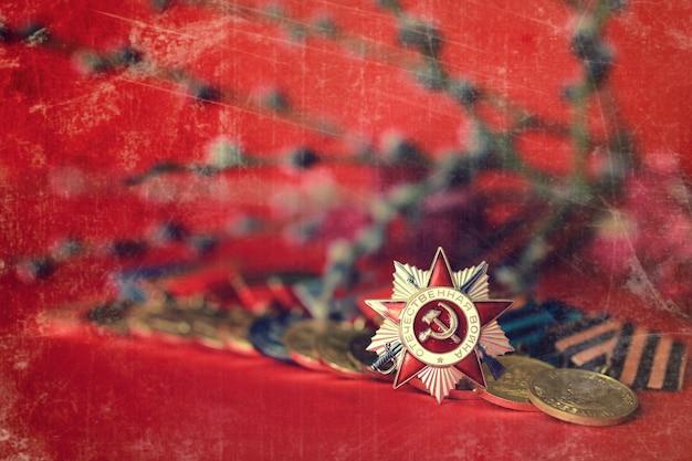 Retro-effect op de samenstelling van de medailles uit de grote patriottische oorlog