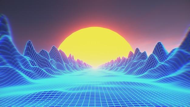 Retro futuristische achtergrond