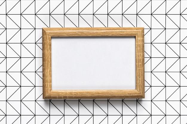Retro houten frame met patroonachtergrond
