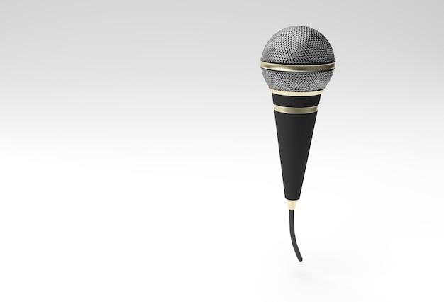 Retro microfoon op korte poot en standaard,