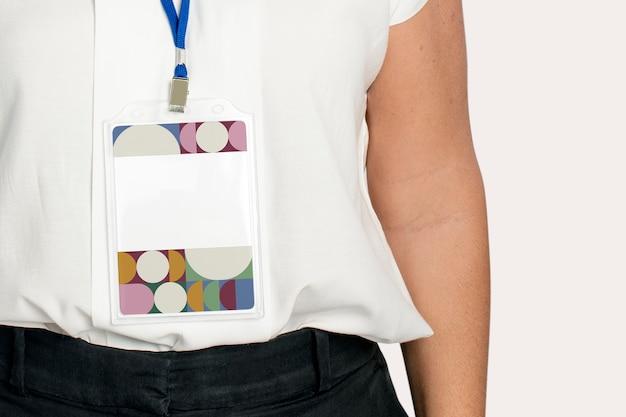 Retro patroon tentoonstelling badge met ontwerpruimte