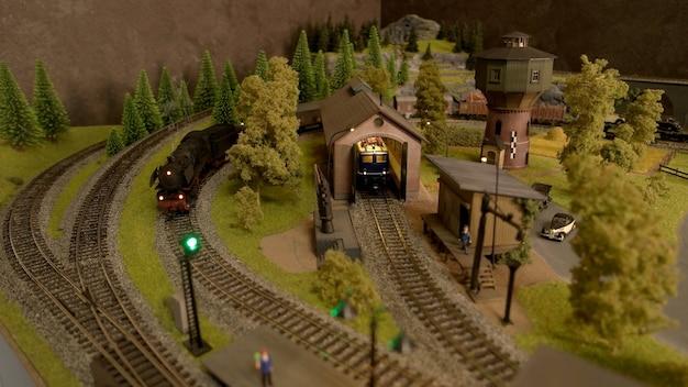 Retro speelgoed spoorwegen.