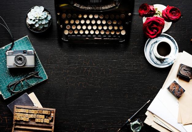 Retro typemachine machine oude stijl