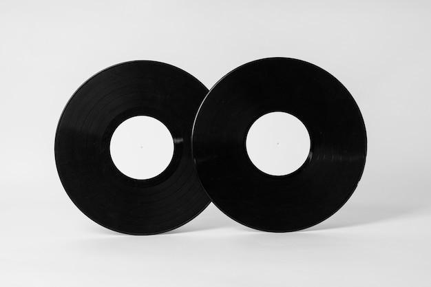 Retro vinylschijfconcept met exemplaarruimte