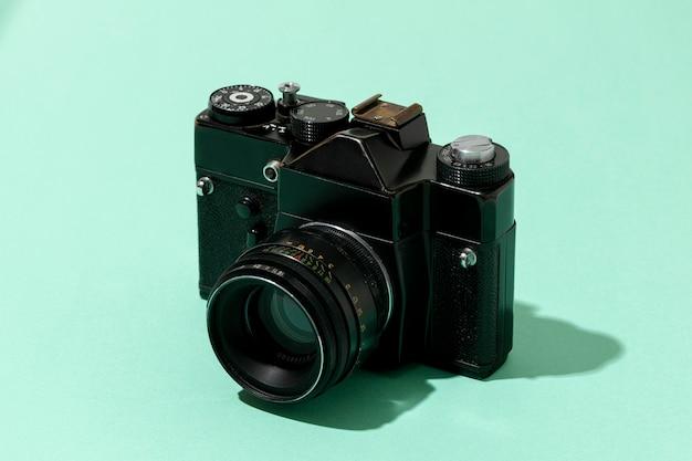 Retro zwarte camera-opstelling