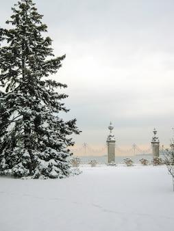 Reusachtig schilderachtig dolmabahce-paleis in istanboel. kalkoen.