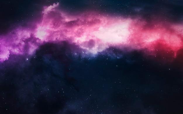 Reusachtige nevel vol heldere sterren.