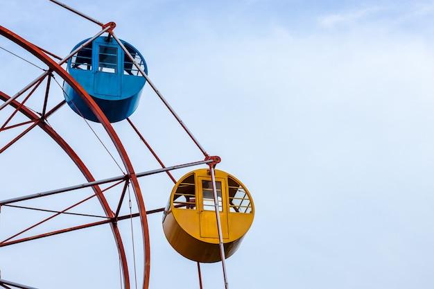 Reuzenrad close-up weergave met kopie ruimte binnenkant van een park