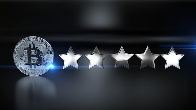 Review tarief 5-sterren social media-stijl 4k. illustratie.