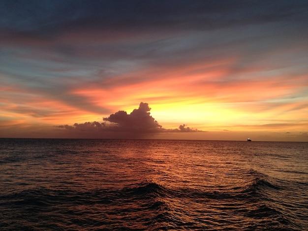 Rico oceaan juan puerto san zonsondergang