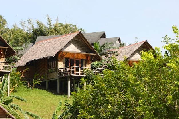Rieten dak op een huis