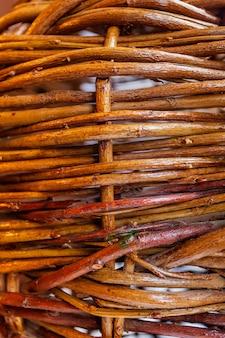 Rieten natuurlijke bruine twijgen textuur