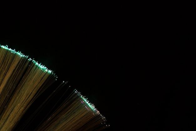 Rietjes van optische vezels met licht