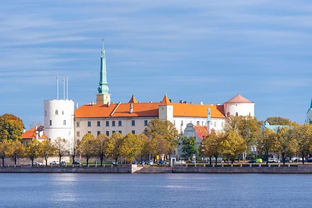 Riga, bekijk oud kasteel, riga castle in letland