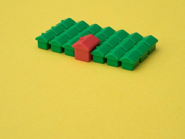 Rij huizen, voor onroerend goed