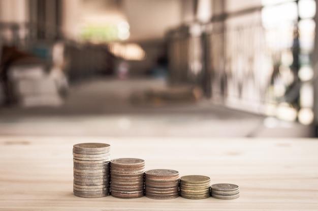Rij muntgeld voor finaancegroeibesparende investering