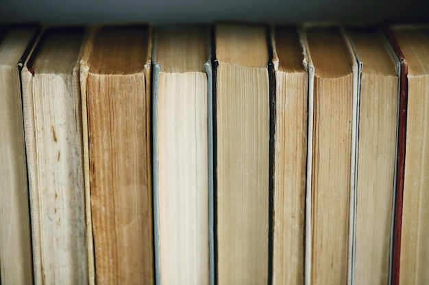 Rij van boeken, literatuurconcept