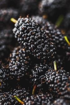 Rijp en vers fruit van zwarte moerbei