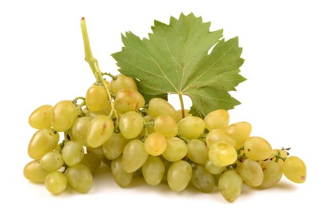 Rijpe druiven op wit