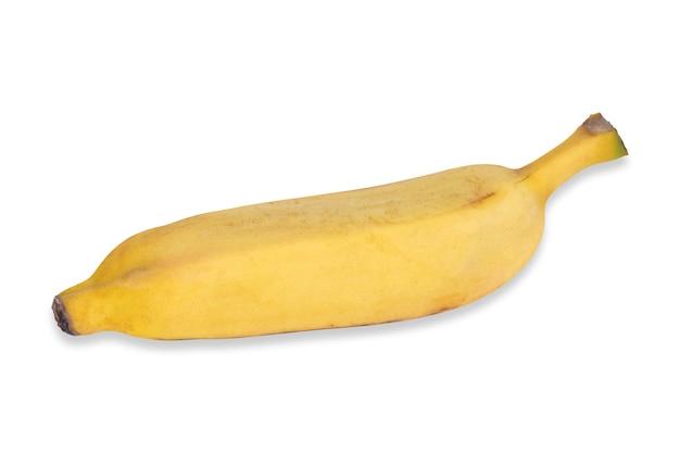 Rijpe gele geïsoleerde banaan.