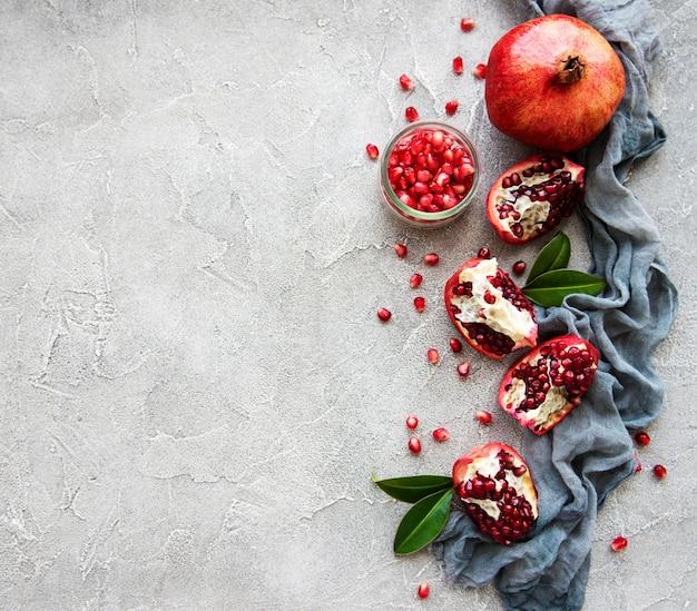 Rijpe granaatappelfruit