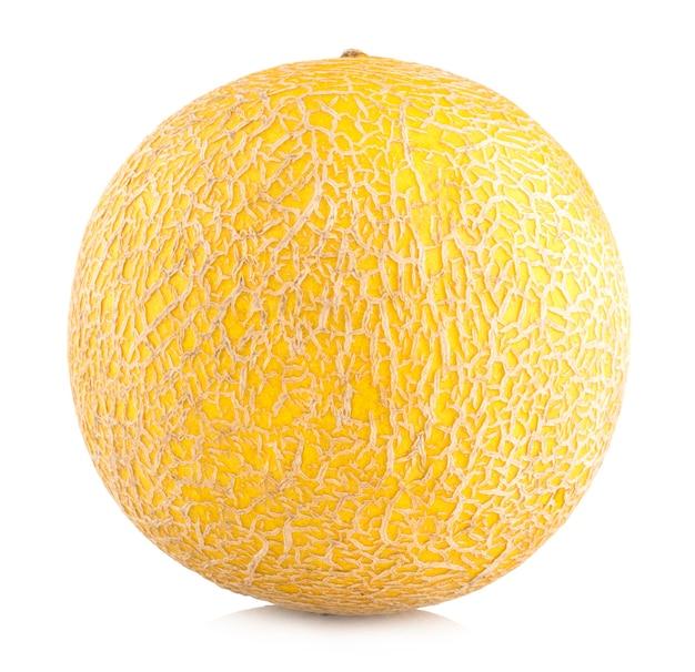 Rijpe meloen geïsoleerd op witte achtergrond
