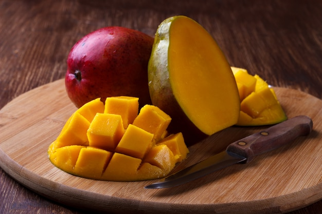 Rijpe organische mango