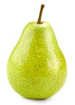 Rijpe peren op wit. verse peren met uitknippad