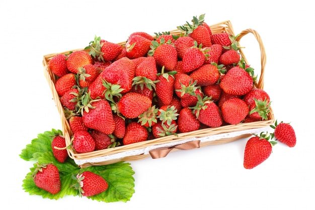 Rijpe sappige aardbeien