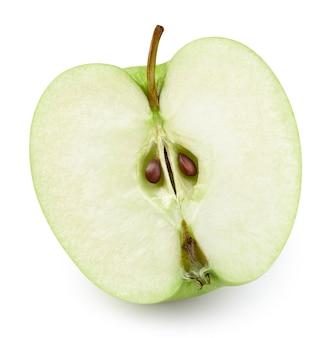 Rijpe verse appels half uitknippad