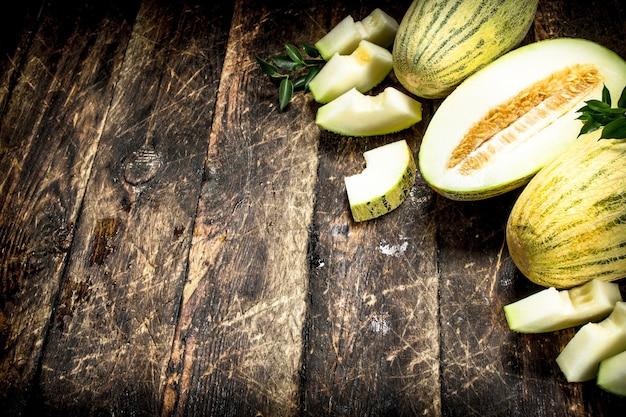 Rijpe verse meloen