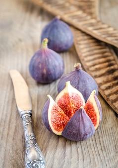 Rijpe vijgen hele vruchten