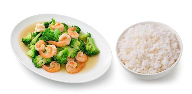 Rijst in een witte stijl van thailand van het kom heerlijke voedsel