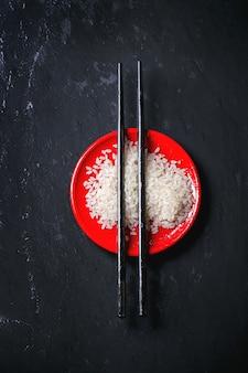 Rijst met eetstokjes