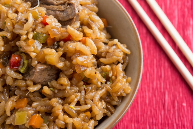 Rijst met rundvlees
