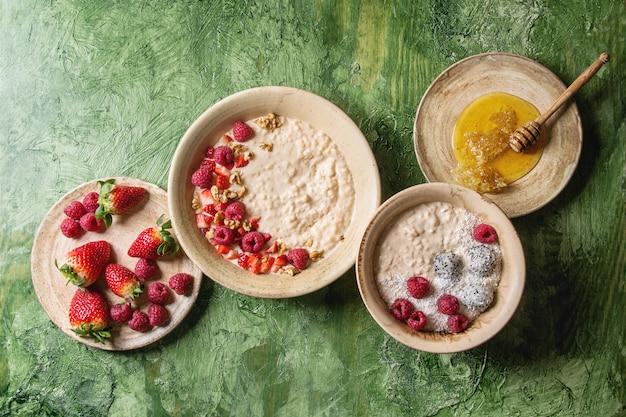 Rijst porrige met bessen