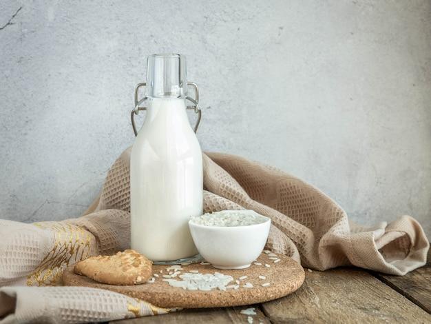 Rijstmelk in een bootle