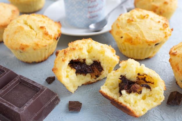Rijstmuffins met chocoladevulling