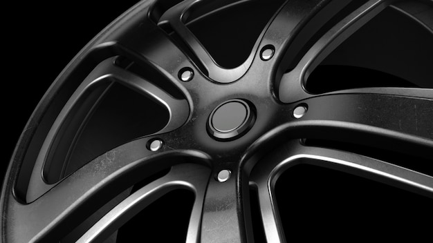 Rim black metal grunge close-up 3d-rendering