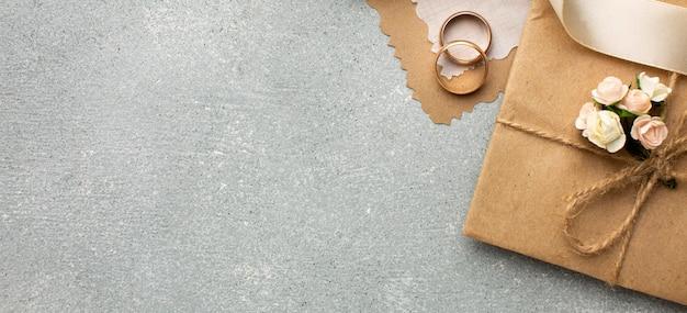 Ringen kopiëren ruimte bruiloft schoonheid concept