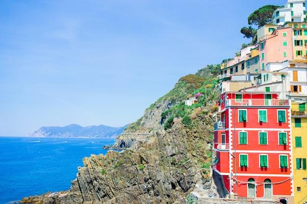 Riomaggiore in cinque terre, ligurië, italië